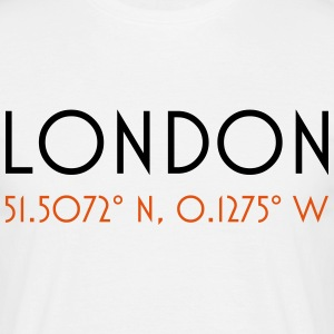 london coordinates T-shirts - Mannen T-shirt