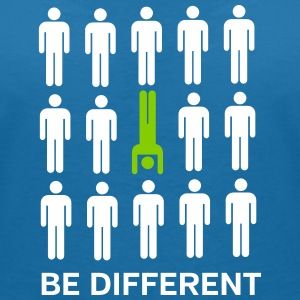 Be Different (Handstand) T-Shirts - Frauen T-Shirt mit V-Ausschnitt