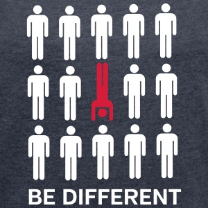 Be Different (Handstand) Camisetas - Camiseta con manga enrollada mujer