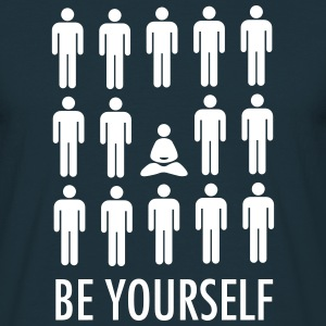 Be Yourself (Meditation) T-shirts - T-shirt herr