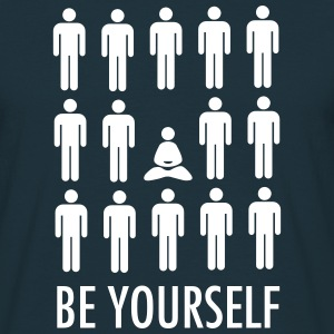 Be Yourself (Meditation) T-shirts - Herre-T-shirt