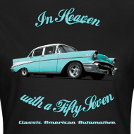 Design ~ Womens T-shirt | Blue 57 Chevy | Classic American Automotive