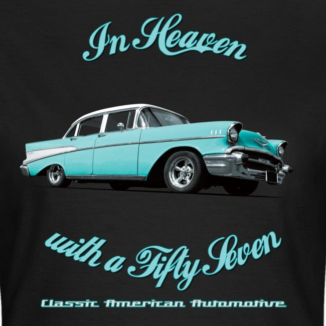 Womens T-shirt | Blue 57 Chevy | Classic American Automotive