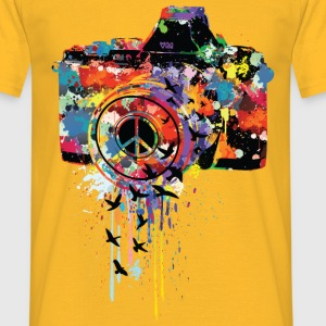 Geel camera T-shirts - Mannen T-shirt