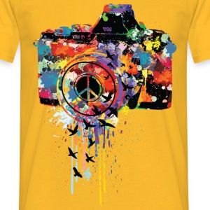 Gelb splattered camera T-Shirts - Männer T-Shirt