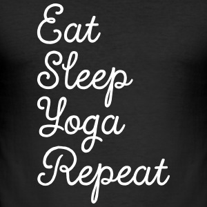Eat, Sleep, Yoga, Repeat T-Shirts - Men's Slim Fit T-Shirt