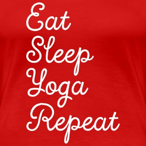 Eat, Sleep, Yoga, Repeat T-shirts - Vrouwen Premium T-shirt