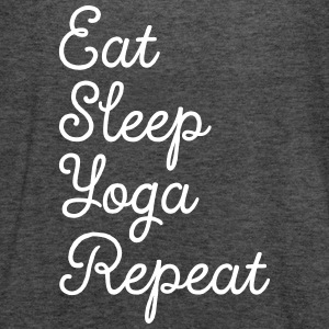 Eat, Sleep, Yoga, Repeat Topy - Tank top damski Bella