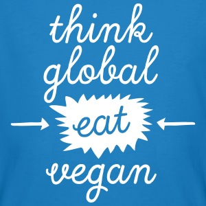Think Global, Eat Vegan T-Shirts - Men's Organic T-shirt