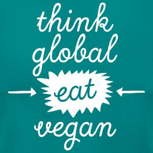 Think Global, Eat Vegan Koszulki - Koszulka damska