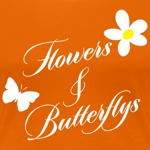Flowers & Butterflys T-Shirts - Frauen Premium T-Shirt