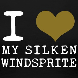 I love MY SILKEN WINDSPRITE weiss / gold - Frauen Premium T-Shirt