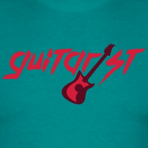 Electric Guitar Guitarist Text Logo T-Shirts - Men's T-Shirt