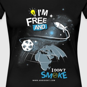 Freedom in Space T-Shirts - Women's Premium T-Shirt