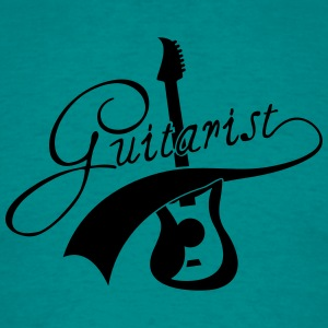 Cool Electro Guitarist Text Design Logo T-Shirts - Men's T-Shirt