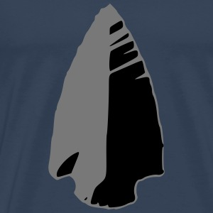 flint arrowhead indian - Men's Premium T-Shirt