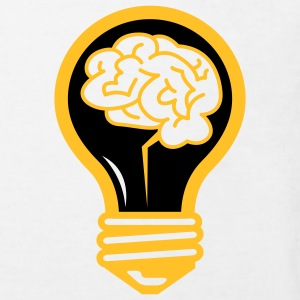 Light bulb with a brain Shirts - Kids' Organic T-shirt