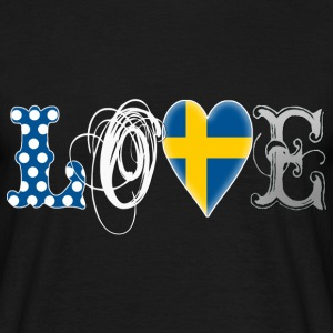 Love Sweden White - Männer T-Shirt