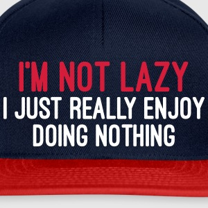 I'm Not Lazy Caps & Hats - Snapback Cap