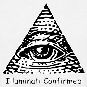 Illuminati Confirmed Meme T-Shirt (Black&White) - Men's T-Shirt