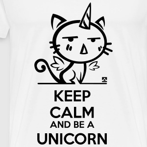 Cat unicorn - keep calm Koszulki - Koszulka męska Premium