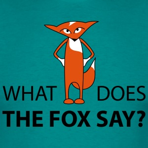 what does the fox say  - Männer T-Shirt