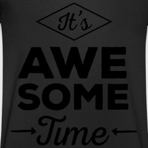 It's Awesome Time T-skjorter - T-skjorte med V-utsnitt for menn