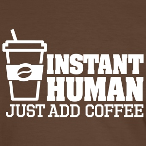 Instant human just add coffee Tee shirts - T-shirt contraste Homme