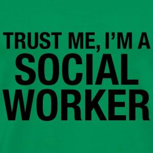 Trust Me I'm A Social Worker T-shirts - Herre premium T-shirt