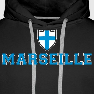 Marseille Sweat-shirts - Sweat-shirt à capuche Premium pour hommes