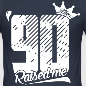 The 90 Raised me - Männer Slim Fit T-Shirt