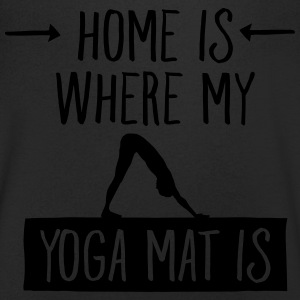 Home Is Where My Yoga Mat Is T-Shirts - Men's V-Neck T-Shirt