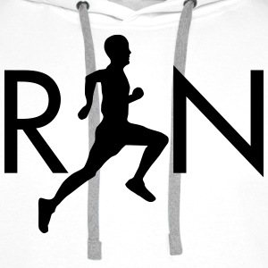 Run (Silhouette Runner) Hoodies & Sweatshirts - Men's Premium Hoodie