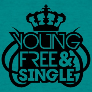 Young Free And Single Krone König Königin Tribal C T-Shirts - Men's T-Shirt