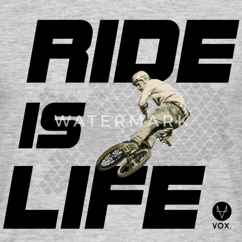 Ride is Life bmx  Tee shirts - T-shirt Homme