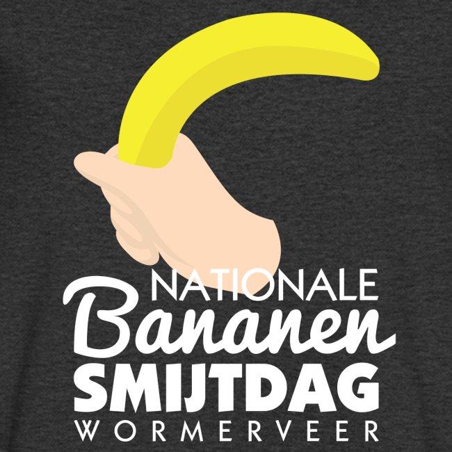 Bananensmijtdag mannen v-hals bio