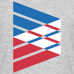 Tri-Color Abstract Flag T-Shirts - Men's T-Shirt