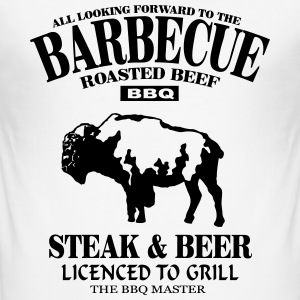 Barbecue T-shirts - Slim Fit T-shirt herr