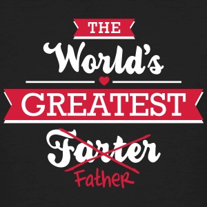 The world's greatest farter/father T-shirts - Mannen Bio-T-shirt