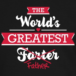 The world's greatest farter/father T-shirts - Mannen contrastshirt