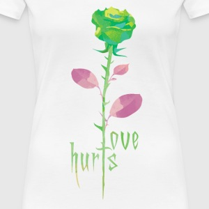 Love hurts - Frauen Premium T-Shirt