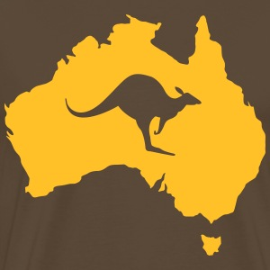 Australia with kangaroo T-Shirts - Men's Premium T-Shirt