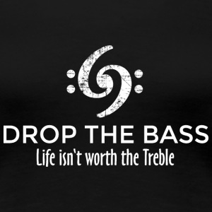 Drop the Bass 69 Vintage White T-Shirts - Women's Premium T-Shirt