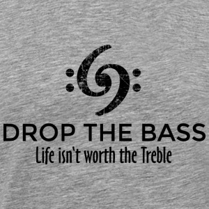 Drop the Bass 69 Vintage Black T-Shirts - Men's Premium T-Shirt