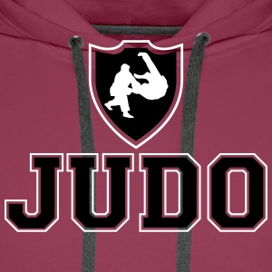 Judo Ecusson Sweat-shirts - Sweat-shirt à capuche Premium pour hommes