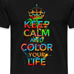 KEEP CALM, music, cool, text, sports, love, retro T-shirts - Herre premium T-shirt