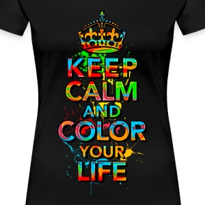 KEEP CALM, music, cool, text, sports, love, retro T-shirts - Premium-T-shirt dam