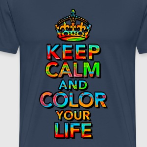 KEEP CALM, music, cool, text, sports, love, retro T-shirts - Mannen Premium T-shirt