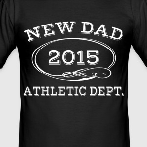 new dad 2014 athleticdept . T-Shirts - Men's Slim Fit T-Shirt