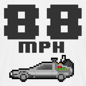DeLorean 8bit (Back to the Future) - Men's T-Shirt